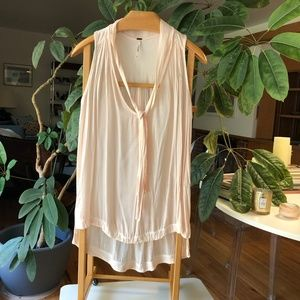 Free People Pale Pink Blouse